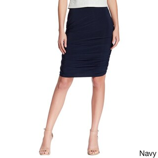 Women's Fitted Pencil Skirt With Side Shirring-
