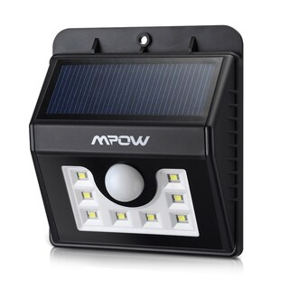 Mpow Solar Powerd Light Wireless LED Security Motion Sensor Light