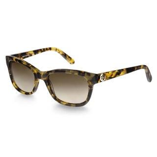 Tory Burch Women's TY7044 504/13 Brown Tortoise Square Plastic Sunglasses