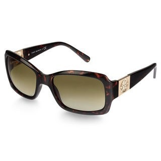 Tory Burch Women's TY9028 51013 Tortoise Plastic Rectangular Sunglasses