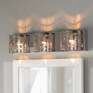 High Gloss Elegance 3-light LED Chrome Finish and Clear Crystal 30-inch Wide Wall Sconce Light