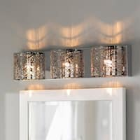 Metro Candelabra 3-light LED Chrome Finish and Clear Crystal 30-inch Wide Wall Sconce Light