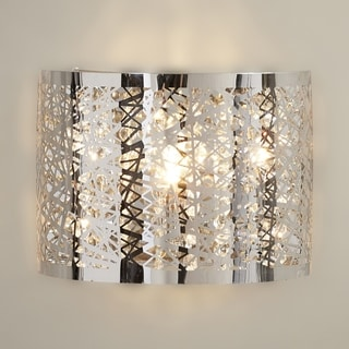 Aramis Collection 1 Light LED Chrome Finish and Clear Crystal Wall Sconce Light