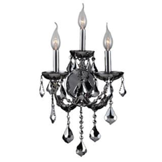 Maria Theresa Imperial 3-light Chrome Finish and Chrome Crystal Candle Wall Sconce