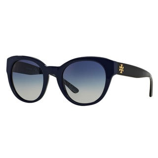 Tory Burch Women's TY7080 Blue Round Gradient Sunglasses