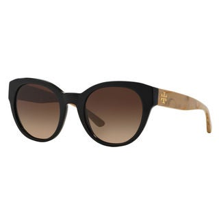 Tory Burch Women's TY7080 140613 Round Brown Plastic Sunglasses