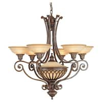 Feiss Stirling Castle 6- light British Bronze Single Tier Chandelier