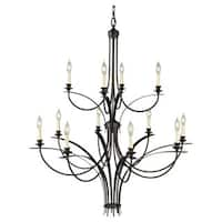 Feiss Boulevard 12- light Oil Rubbed Bronze Multi Tier Chandelier