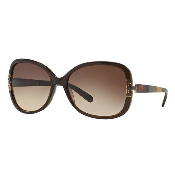 79f8e80e72e3 Tory Burch Women's TY7022 110913 Plastic Square Sunglasses - Olive