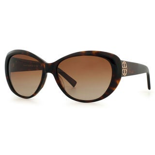 Tory Burch Women's TY7005 1327T5 Brown Plastic Cat Eye Sunglasses