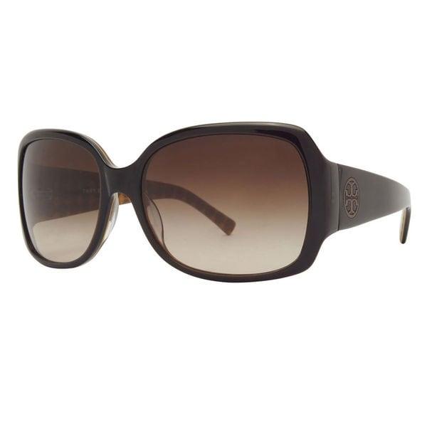 f7ca4d7e4dba Tory Burch Women's TY7004 521/12 Brown Square Plastic Oversized  Sunglasses
