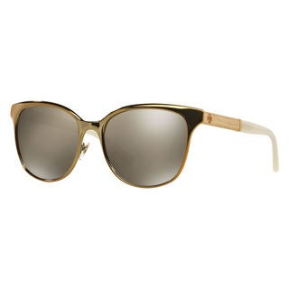 Tory Burch Women's TY6041 30286H Gold Metal Cat Eye Sunglasses