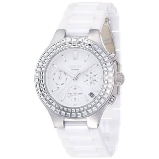 DKNY Women's NY2223 'Chambers' Chronograph White Ceramic Watch