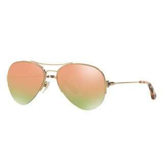 Tory Burch Women's TY6038 106R5 Rose Gold Aviator Sunglasses