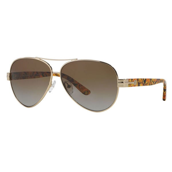 23cceb61e8a2 Shop Tory Burch Women's TY6031 Pilot Sunglasses - Gold - Free Shipping Today  - Overstock - 10237910