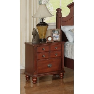 Militza French Dovetail Cherry Finish Nightstand