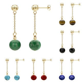 DaVonna 14k Yellow Gold Chain and Gemstone or Birthstone Dangle Earring|https://ak1.ostkcdn.com/images/products/10237991/P17358144.jpg?impolicy=medium