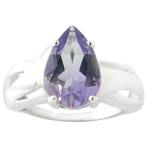 Glitzy Rocks Sterling Silver Genuine Gemstone Ring