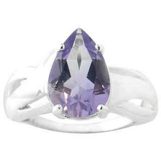 Glitzy Rocks Sterling Silver Genuine Gemstone Ring