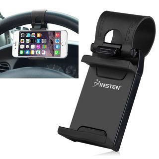 Insten Black Universal Car Steering Wheel Phone Holder for Apple iPhone 7/ 7 Plus/ Samsung Galaxy S7/ S7 Edge/ S6/ LG G5/ HTC