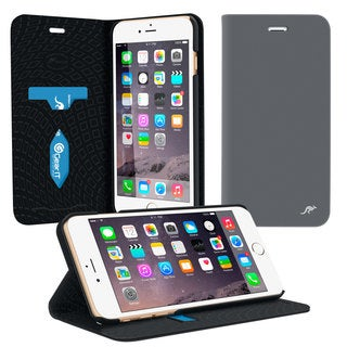 rooCASE Esteem Folio Wallet Twill Fabric Case for Apple iPhone 6 Plus 5.5-inch (2014) / 6s Plus (2015)