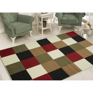 Sweet Home Modern Multi-colored Area Rug (5' x 7')