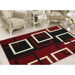 Sweet Home Stores Modern Boxes Geometric Area Rug