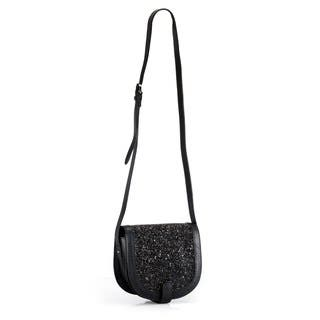 Handmade Phive Rivers Leather Black Glitter Crossbody Bag (Italy)|https://ak1.ostkcdn.com/images/products/10238141/P17358318.jpg?impolicy=medium