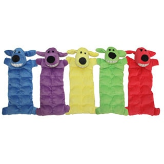 Multipet Loofa Squeaker Mat Soft Plush Dog Toy