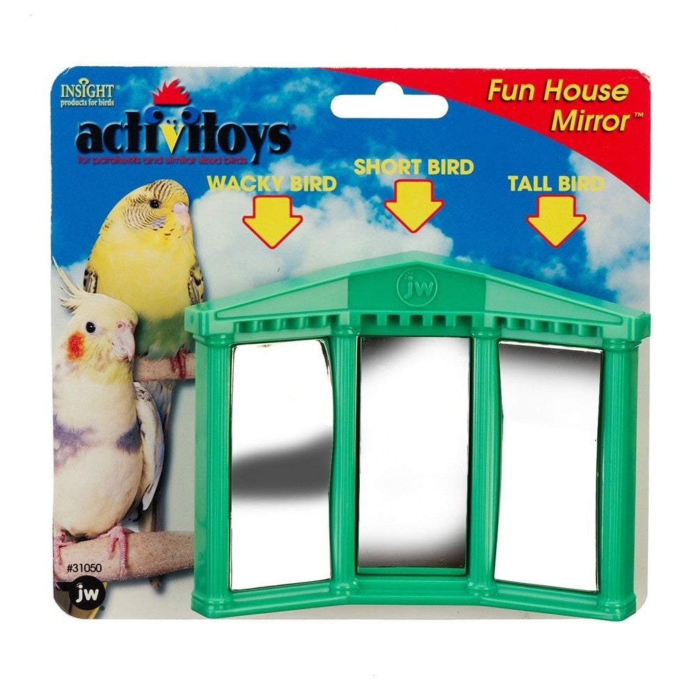 JW Pet Activitoy Fun House Mirror (Multi-Colored)