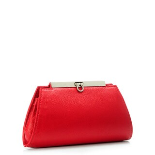 Phive Rivers Red Leather Snap Clutch (Italy)