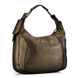 Phive Rivers Gold Leather Hobo Bag (Italy)