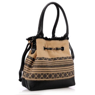 Phive Rivers Printed Leather Hobo Bag (Italy)
