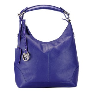 Phive Rivers Purple Leather Hobo Bag (Italy)