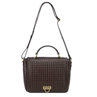 Handmade Phive Rivers Brown Leather Quilted Flap-over Handbag (Italy)|https://ak1.ostkcdn.com/images/products/10238222/P17358333.jpg?impolicy=medium