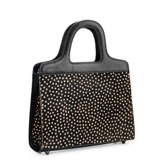 Handmade Phive Rivers Leather Polka Dot Handbag (Italy) - One size