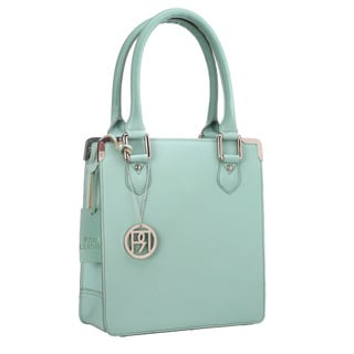 Phive Rivers Grained Leather Mint Handbag (Italy)