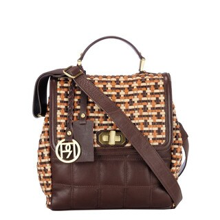 Phive Rivers Leather Brown Multi Handbag