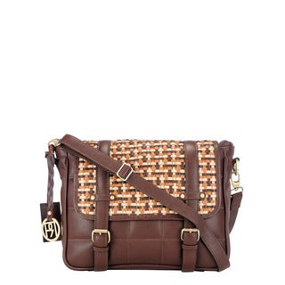 Phive Rivers Leather Multi Brown Flap-over Handbag (Italy)
