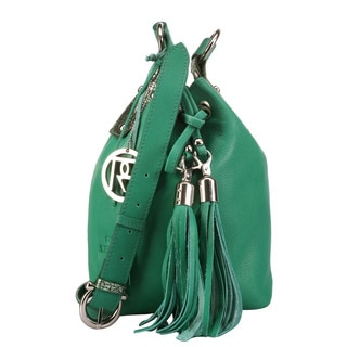 Phive Rivers Leather Tassel Handbag (Italy)