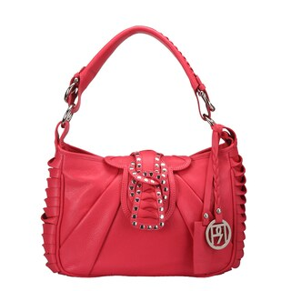 Phive Rivers Red Leather Twist Handbag (Italy)