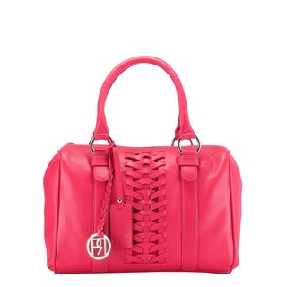 Phive Rivers Red Leather Braid Handbag (Italy)