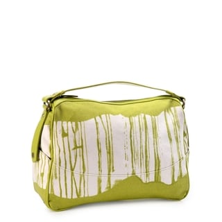 Phive Rivers Leather Green Paint Shoulder Bag (Italy)