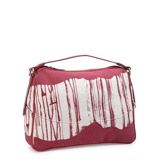 Phive Rivers Leather Red Paint Shoulder Bag (Italy)
