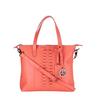 Phive Rivers Pink Leather Tote Bag