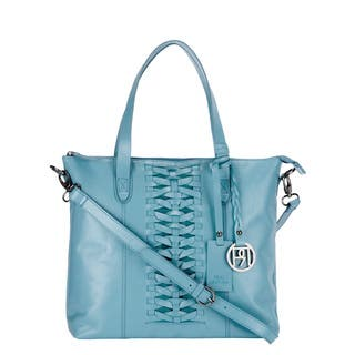 Handmade Phive Rivers Light Blue Leather Tote Bag (Italy)|https://ak1.ostkcdn.com/images/products/10238285/P17358390.jpg?impolicy=medium