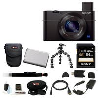 Sony DSC-RX100M III Cyber-shot Digital Still Camera (Black) + 64GB Bundle