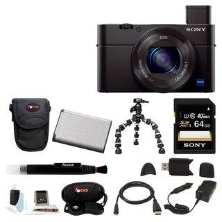 Sony DSC-RX100M III Cyber-shot Digital Still Camera (Black) + 64GB Bundle