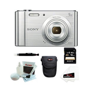 Sony Cyber-shot DSCW800/B Digital Camera (Silver) with 16GB Accessory Kit