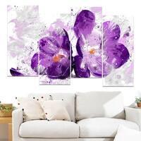 Design Art 'Blooming Purple Flower' Canvas Art Print